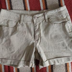 Ladie's Tan Denim Shorts